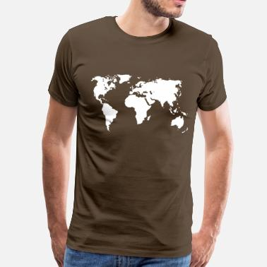 Map Weltkarte - Men's Premium T-Shirt