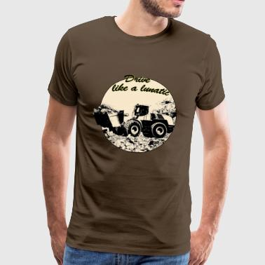 wheel loader - T-shirt Premium Homme