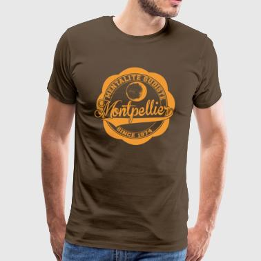 MENTALITE SUDISTE / logo orange / (marron) - T-shirt Premium Homme