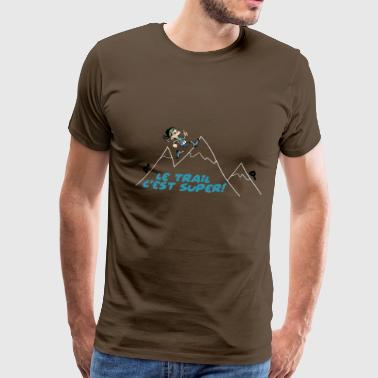 the trail on the mountain - Men's Premium T-Shirt