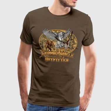 Falconry hunting hawk.png - Men's Premium T-Shirt
