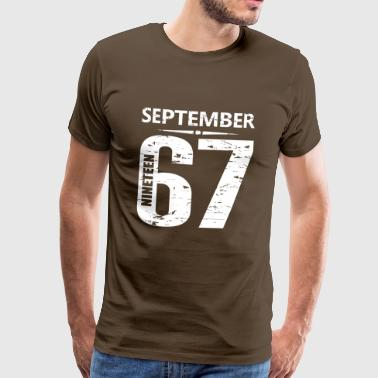 September 1967 Jersey Number - Männer Premium T-Shirt