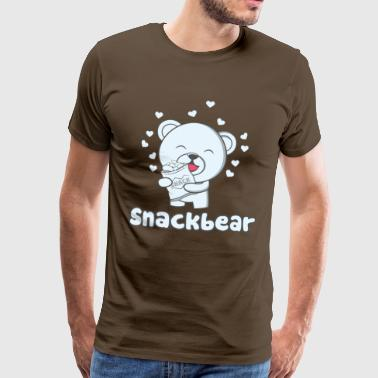 Snack bear / snack bear with heart - Men's Premium T-Shirt