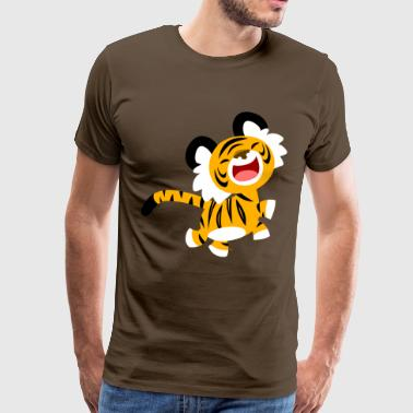 Lachender Cartoon Tiger von Cheerful Madness!! - Männer Premium T-Shirt