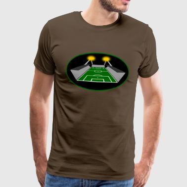 Floodlit game football stadium  - Men's Premium T-Shirt