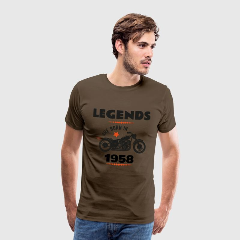 born in 1958 - Männer Premium T-Shirt