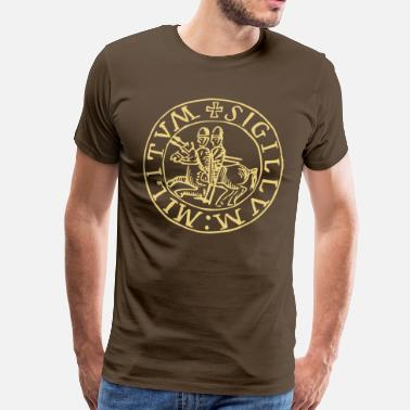 Knights Templar knights seal - Men's Premium T-Shirt