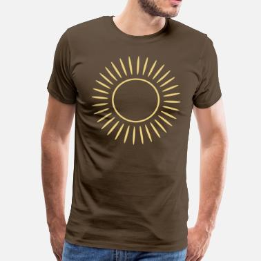 Sun Rays Sun with rays - Men's Premium T-Shirt