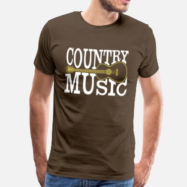 Music Country music - Men's Premium T-Shirt