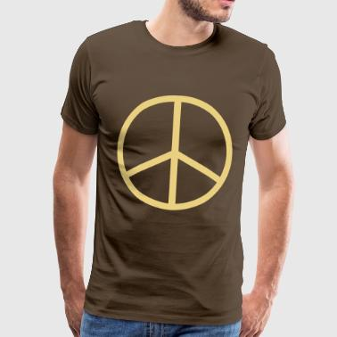 peace sign hippie - T-shirt Premium Homme
