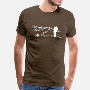 Hiking Backpacker - Wanderer - Männer Premium T-Shirt