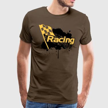 Racing - Premium T-skjorte for menn