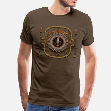 Poppycock And Cheapskate Steampunk Clock / Machinery T-Shirt - Men's Premium T-Shirt