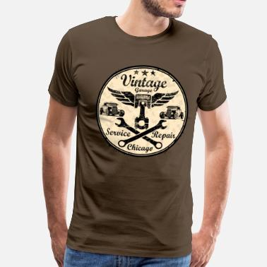 Car Service vintage repair service - Men's Premium T-Shirt