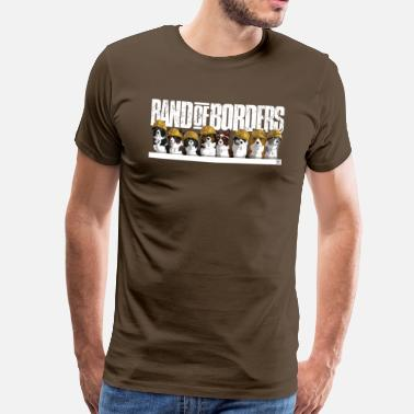 Border Collie Band Of Grænser - Desert - Hvid - Herre premium T-shirt