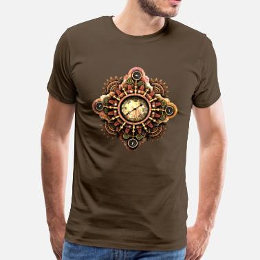 Poppycock And Cheapskate Steampunk Mystery Device (No Pressure!) T-Shirts - Men's Premium T-Shirt