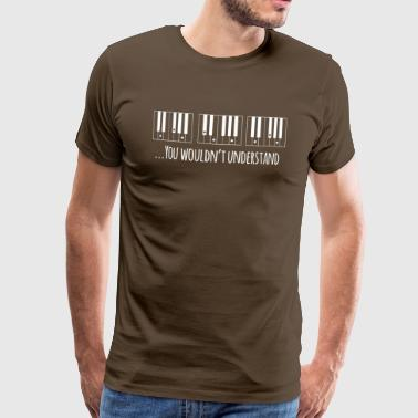 Piano Dad - Männer Premium T-Shirt
