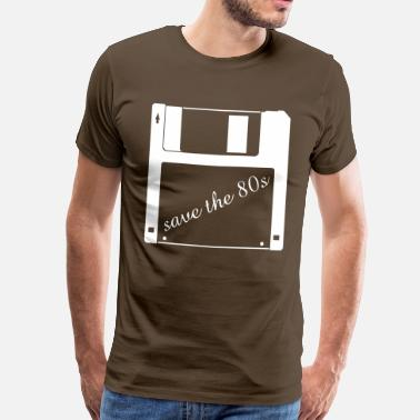 80er 3,5 tomme diskette - save the 80er - Herre premium T-shirt