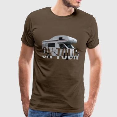 on Tour - Herre premium T-shirt