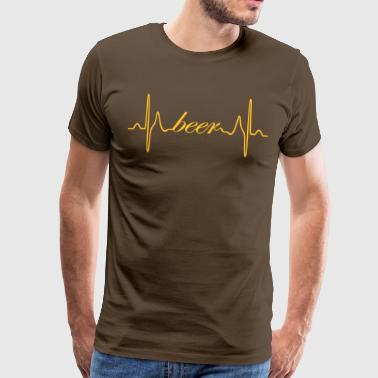 Beer heart beat EKG - Men's Premium T-Shirt