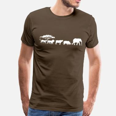 Five Big Five in de savanne - Mannen Premium T-shirt