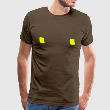 Hidden post-it nipple - Customizable - Men's Premium T-Shirt