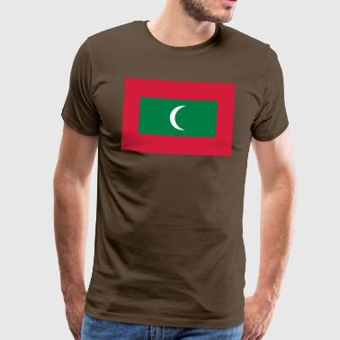 maldives flag - Herre premium T-shirt