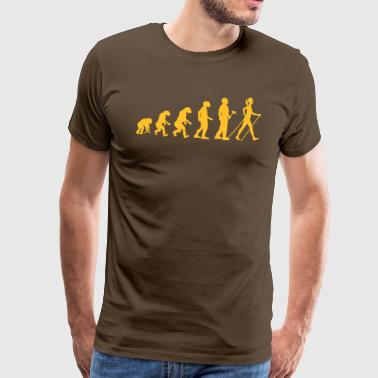 Evolutietheorie Nordic Walking Woman - Mannen Premium T-shirt