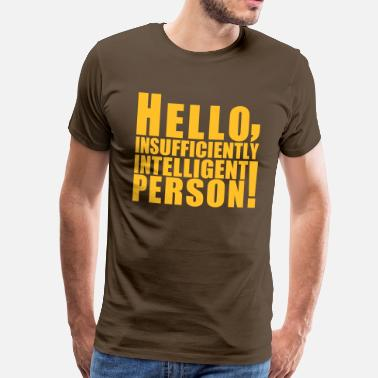 Big Bang Sheldon hello_person - Maglietta Premium da uomo