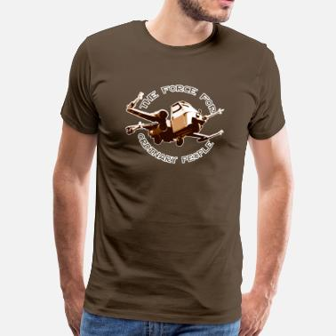 Piaggio Ape X-wing ordinary brown - T-shirt Premium Homme