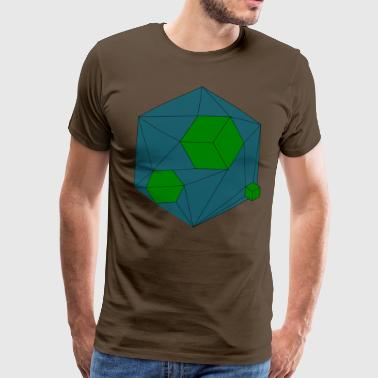 Damaged Cube Green - Männer Premium T-Shirt