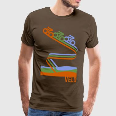 Velo retro cycling shirt - Men's Premium T-Shirt