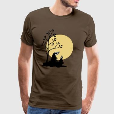 Badgers in the moonlight - Men's Premium T-Shirt