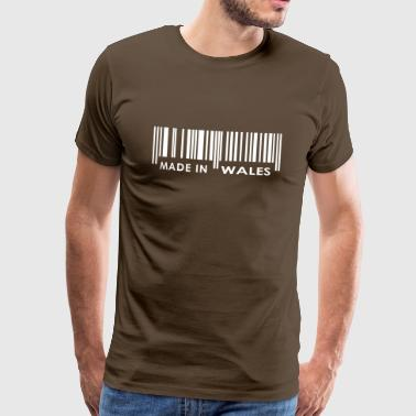 Wales Made in Wales bar code - Men's Premium T-Shirt