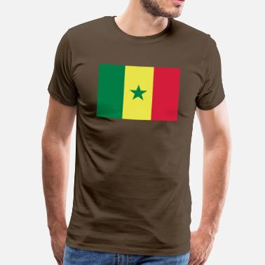 Senegal senegal flag - Premium T-skjorte for menn