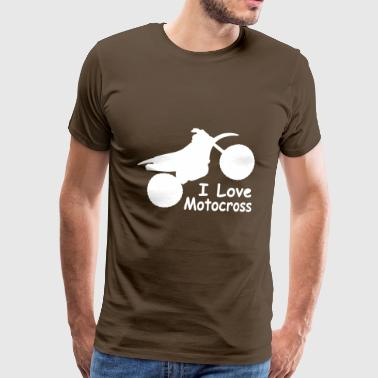 I love motocross - Men's Premium T-Shirt