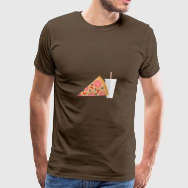 Soft Drink Pizza and soft drink - Men's Premium T-Shirt
