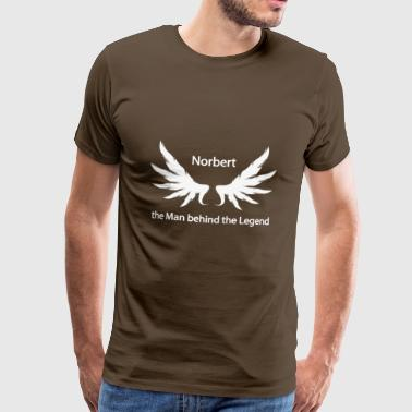 Norbert the Man behind the Legend - Männer Premium T-Shirt