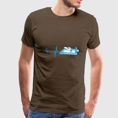 f1f131e6823d57 Geschenk heartbeat Textildruck - Männer Premium T-Shirt. Geschenk heartbeat  Textildruck. von
