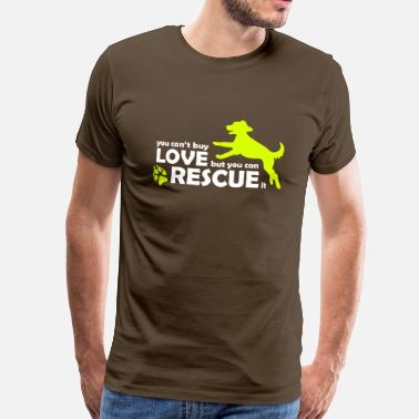Animal Rescue Dog Dog Rescue - Rescue Dogs - Animal Protection - Men's Premium T-Shirt