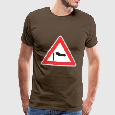 Road Sign triangle venteux - T-shirt Premium Homme