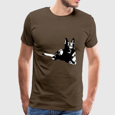 Shepherd dog dog dog sports, - Men's Premium T-Shirt