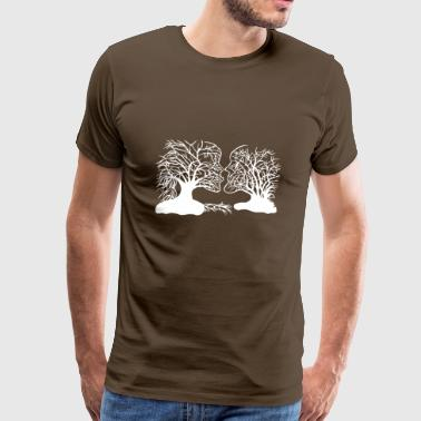 Tree face paper cut - Men's Premium T-Shirt