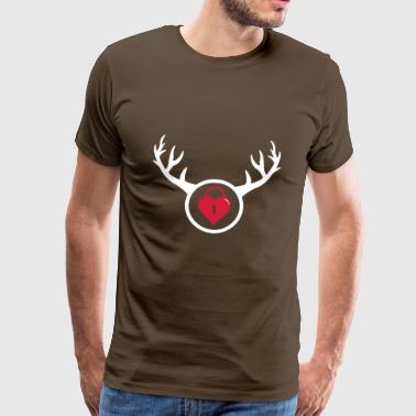 Cuckold The Horned Man Gift Idea - Men's Premium T-Shirt