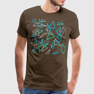 Triangles design blue / gray - Men's Premium T-Shirt