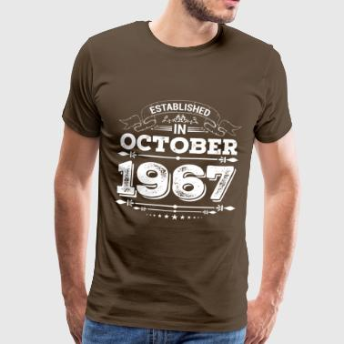 Established in October 1967 - Men's Premium T-Shirt