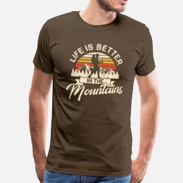 Ski Life is better in the Mountains Wandern Wanderer - Miesten premium t-paita