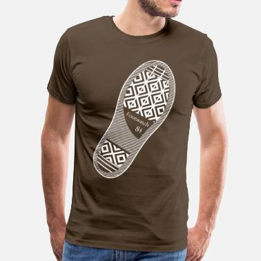 Shoe Print Shoeprint Foot Watch  - Men's Premium T-Shirt