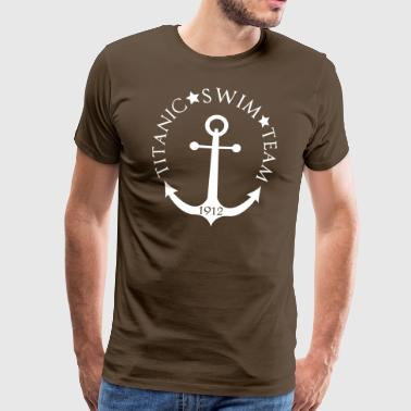Titanic Swim Team 1912 Anchor - Herre premium T-shirt