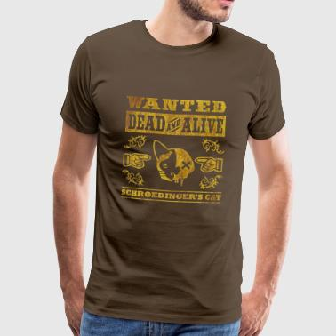 Schroedinger's cat, distressed - Men's Premium T-Shirt